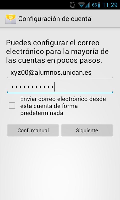 Configurar Correo Imap Android