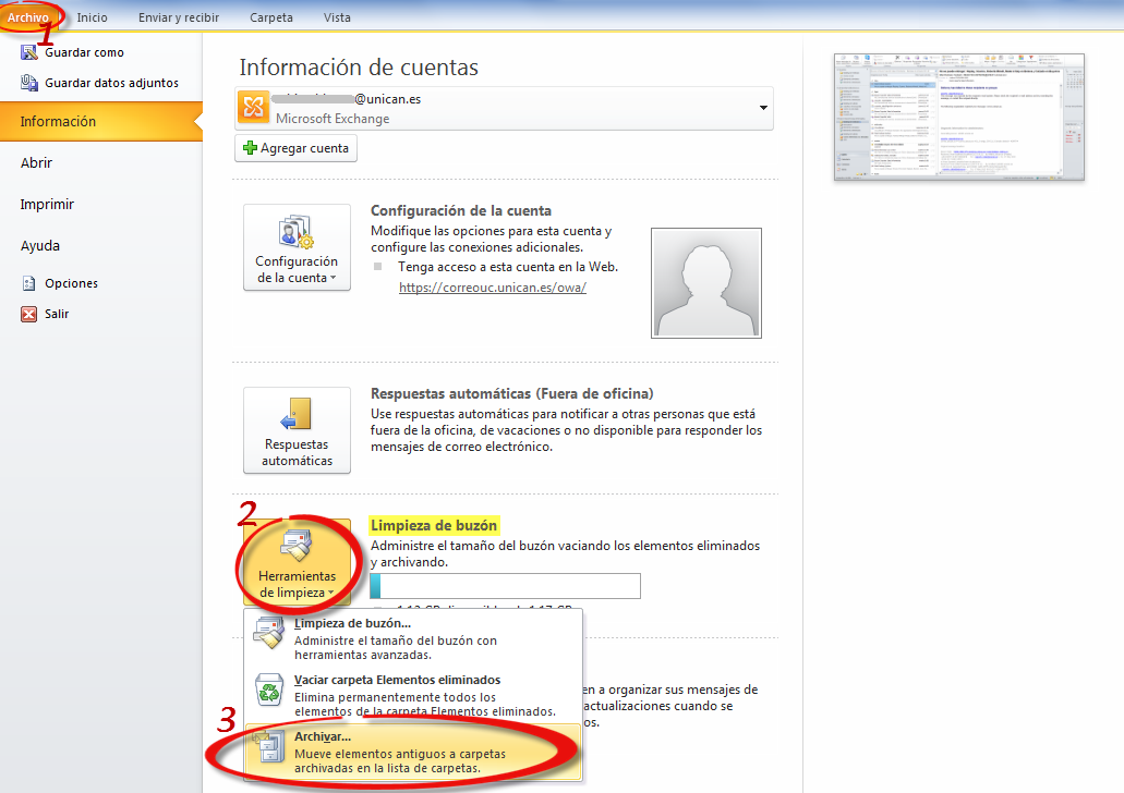 Como exportar correos de outlook archivo pst a gmail - Buzon de correos ...